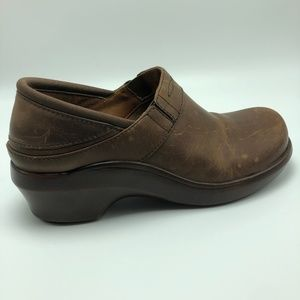 Ariat Clogs Mule Slip on Brown Leather Size 7B